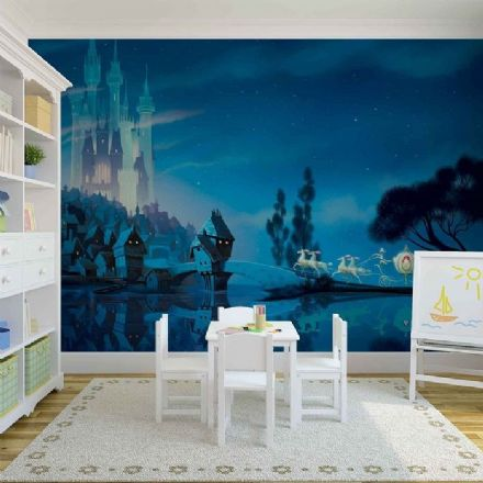 Castle view - Disney paper wallpaper mural